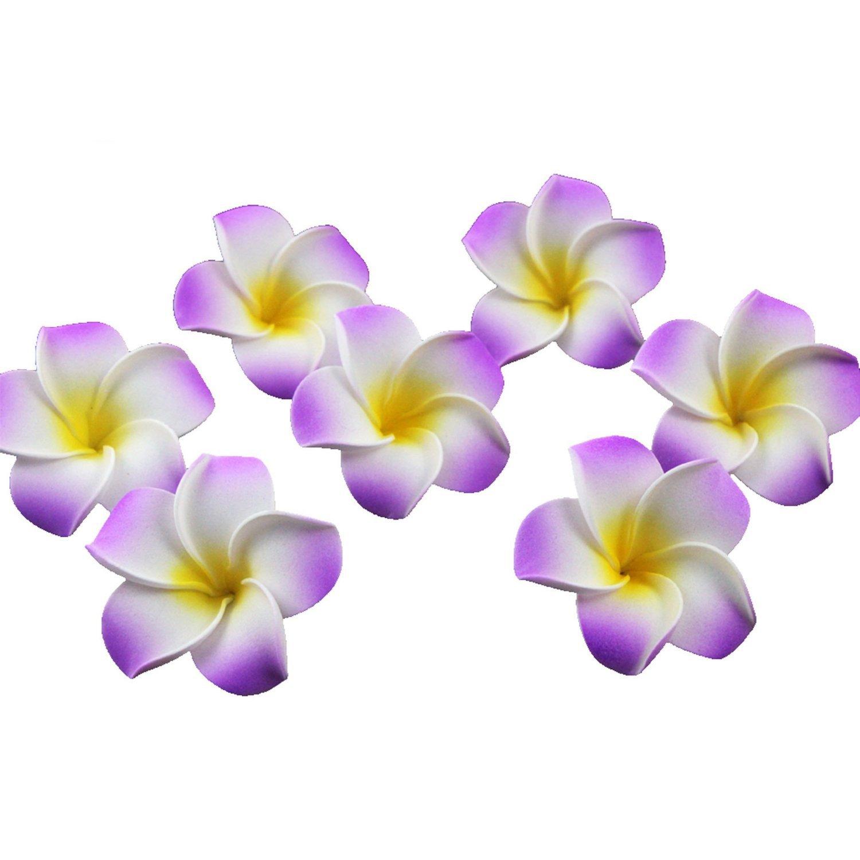 Ewandastore-100-Pcs-Diameter-16-Inch-Artificial-Plumeria-Rubra-Hawaiian-Foam-Frangipani-Flower-Petals-for-Weddings-Party-DecorationPurple