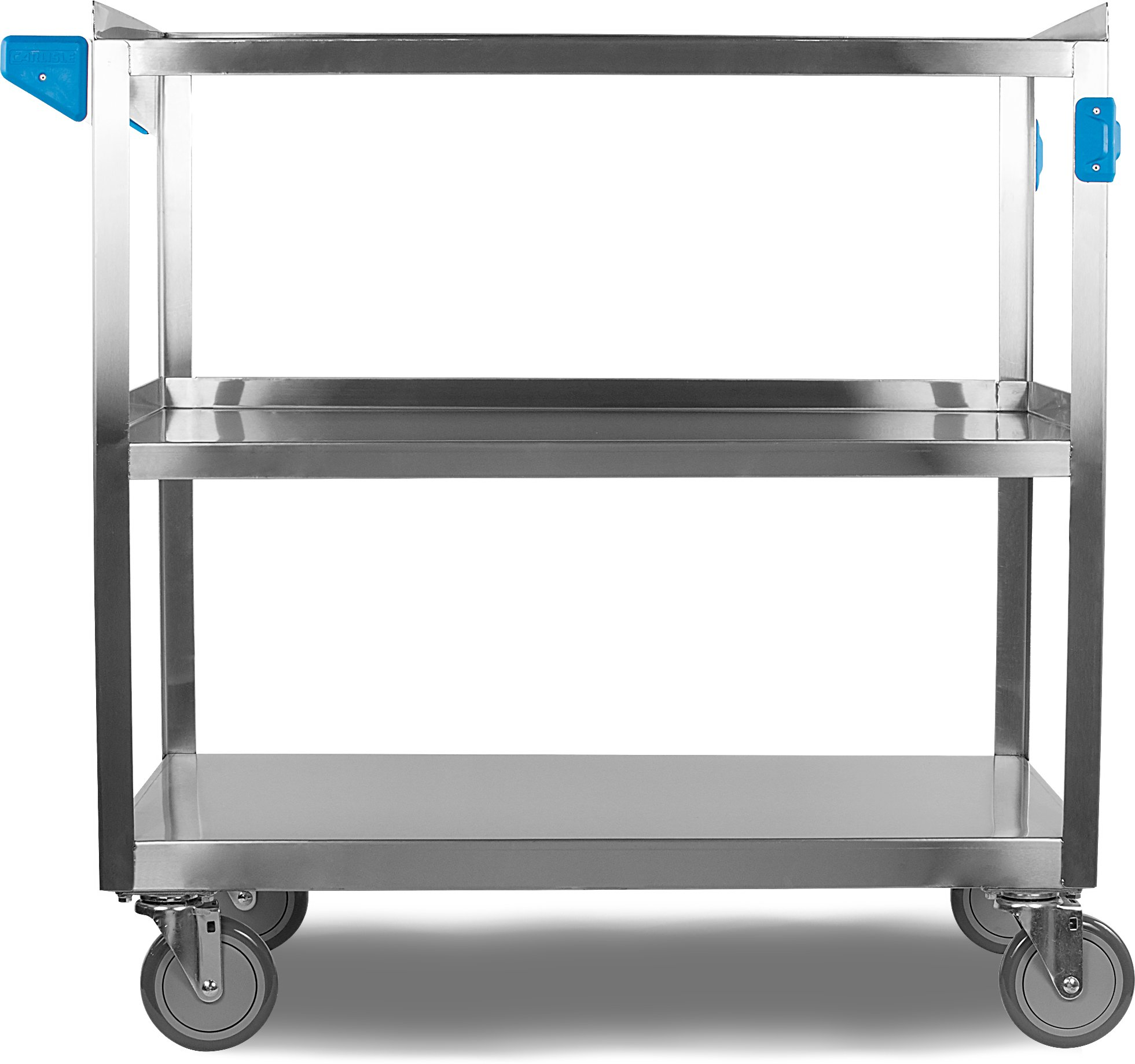 Carlisle UC5032135 3 Shelf Stainless Steel Utility / Service Cart, 500 Pound Capacity, 35'' Long x 21'' Wide x 36'' HIgh, Large