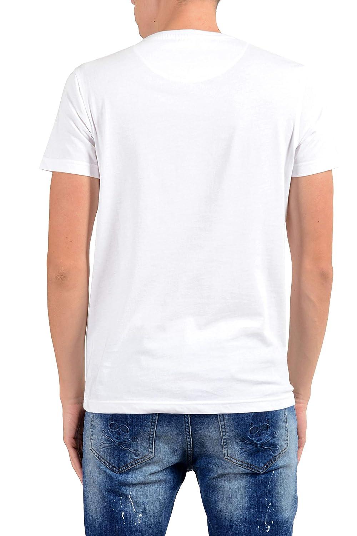 ROBERTO CAVALLI Mens White Embellished Lion Crewneck T-Shirt Size US 2XL IT 56