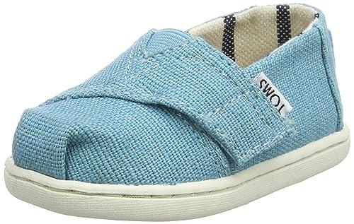 TOMS Alpargata Classic, Unisex bebé, Azul (Marine Blue Heritage Canvas 430), 18.5 EU: Amazon.es: Zapatos y complementos