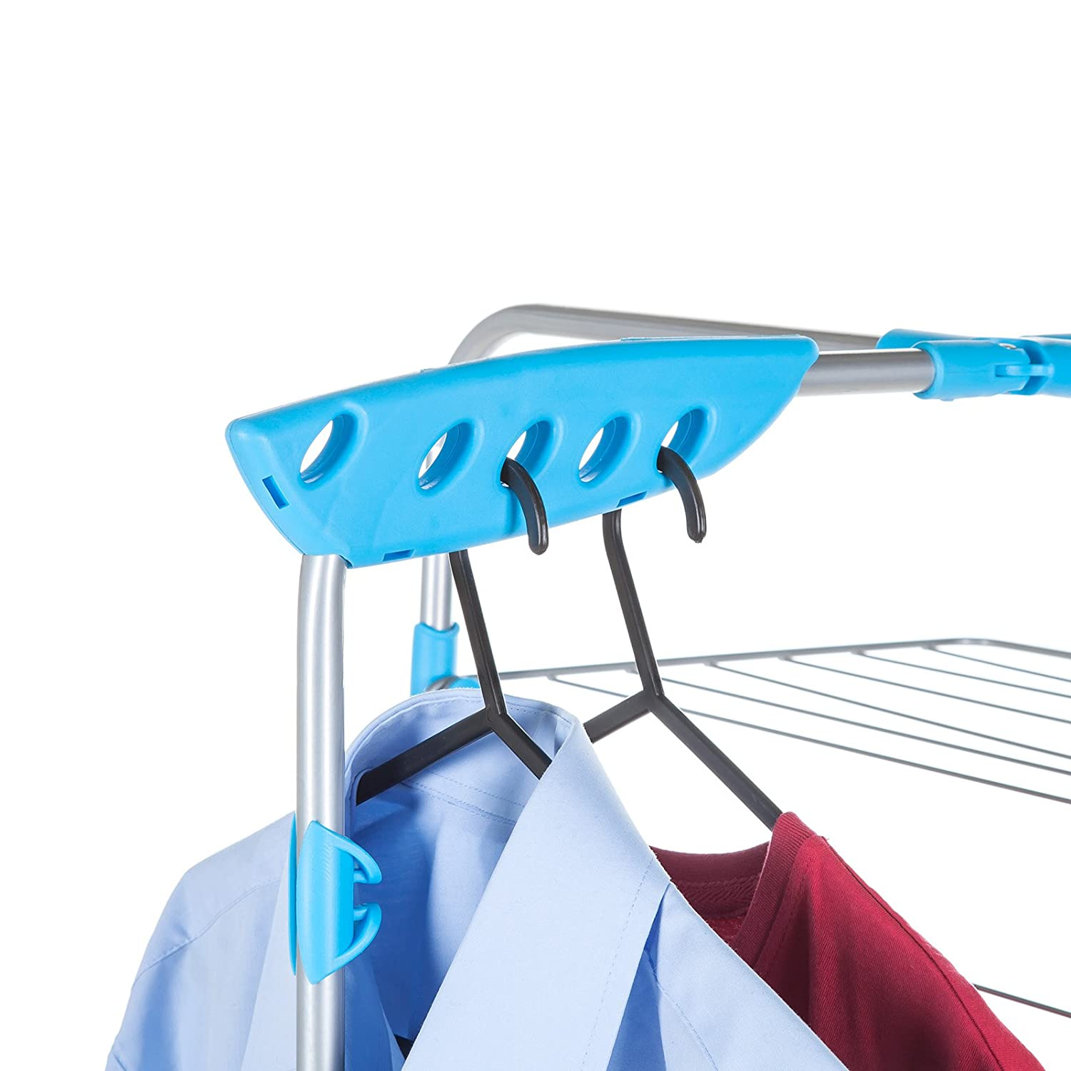 Metal White//Blue Minky Tower Indoor Airer with 40 m Drying Space
