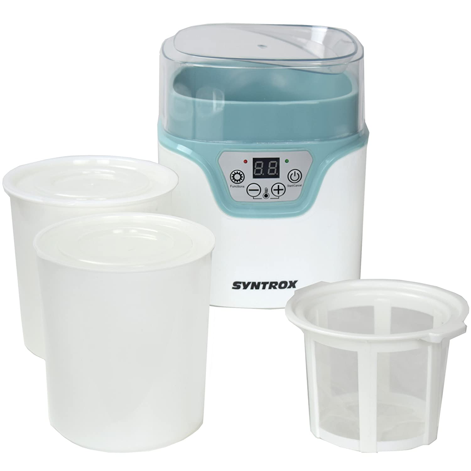 Syntrox Germany JMM-20 W-1.2L digitale 1,2 litri formaggio, del vino, Quark e yogurtiera