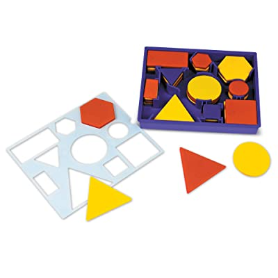 Learning Resources Attribute Blocks Desk Set in Tray: Office Products