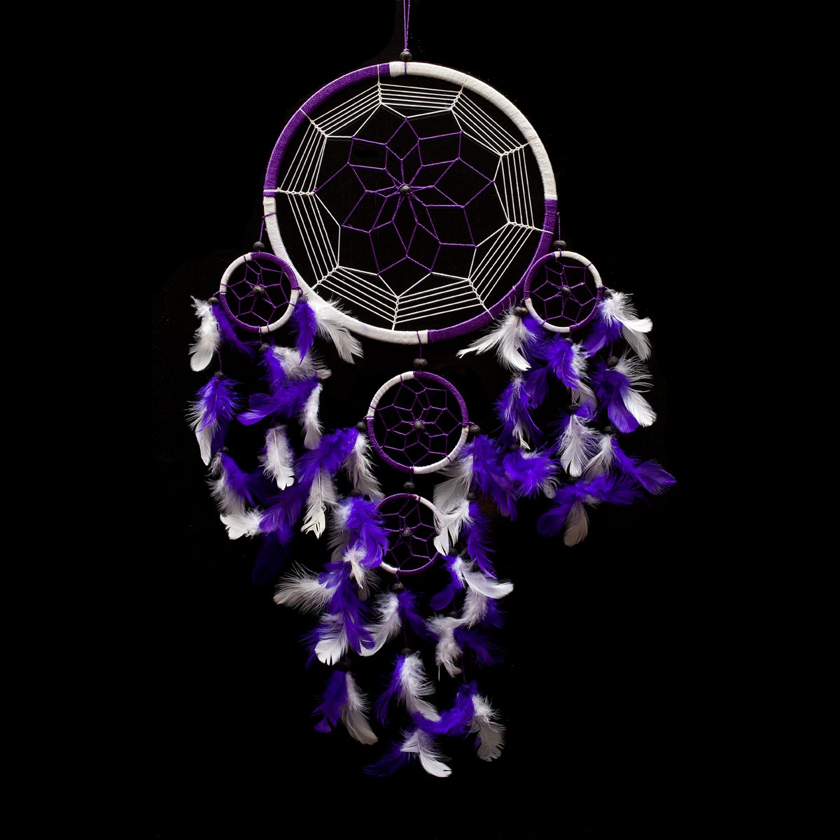 Handmade Purple And White Dream Catcher