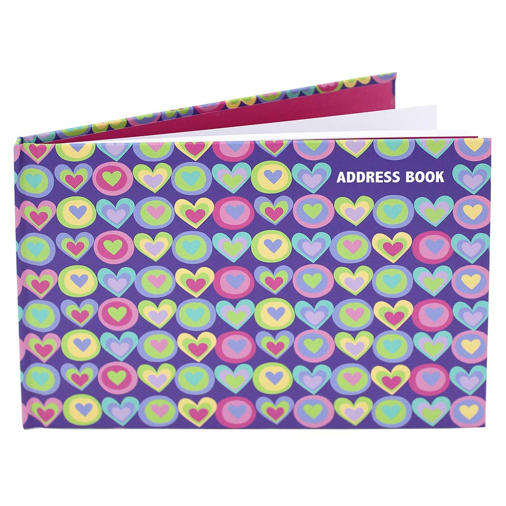 Fashion Stationery A5 Landscape Hearts Address Book