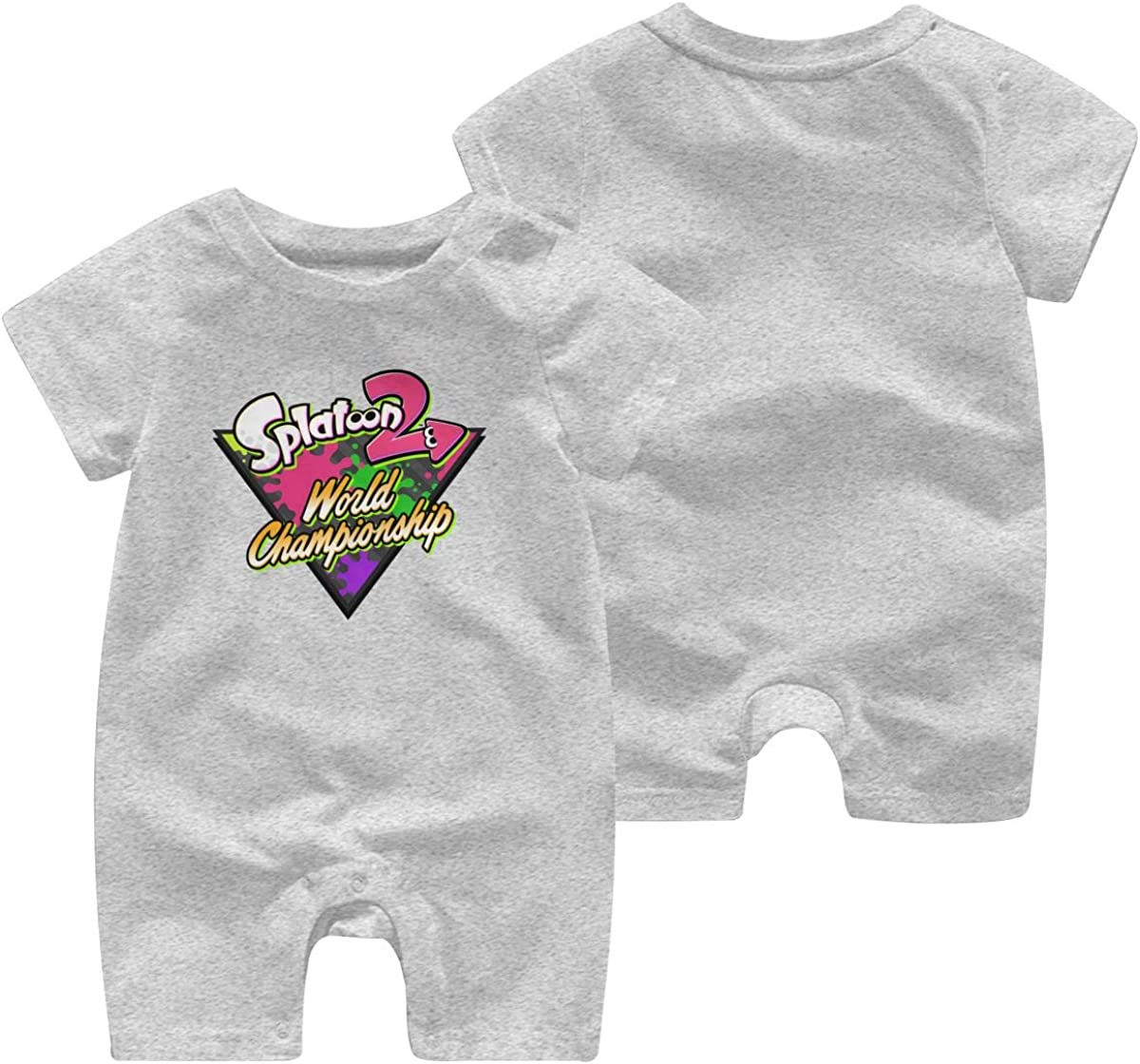 Hey May Baby Boys Girls Shorts Sleeve Romper Splatoon 2 Outfit Creepers Bodysuit Clothes Jumpsuit
