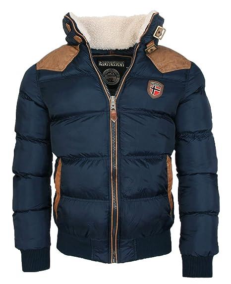 Geographical Norway warme Winterjacke Designer Herren Winter Stepp Jacke