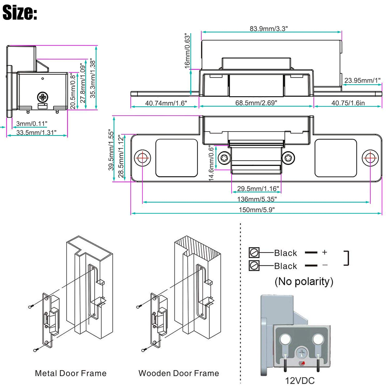 Uhppote Electric Strike Fail Secure Mode Lock A Part For Access About Electrical Home Improvements Wiring Diagrams And Blueprints Control Wood Metal Door