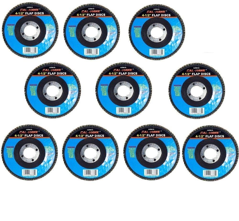 Cal-Hawk 20 Pack 4-1/2'' Auto Body Sanding Flap Discs 80 Grit