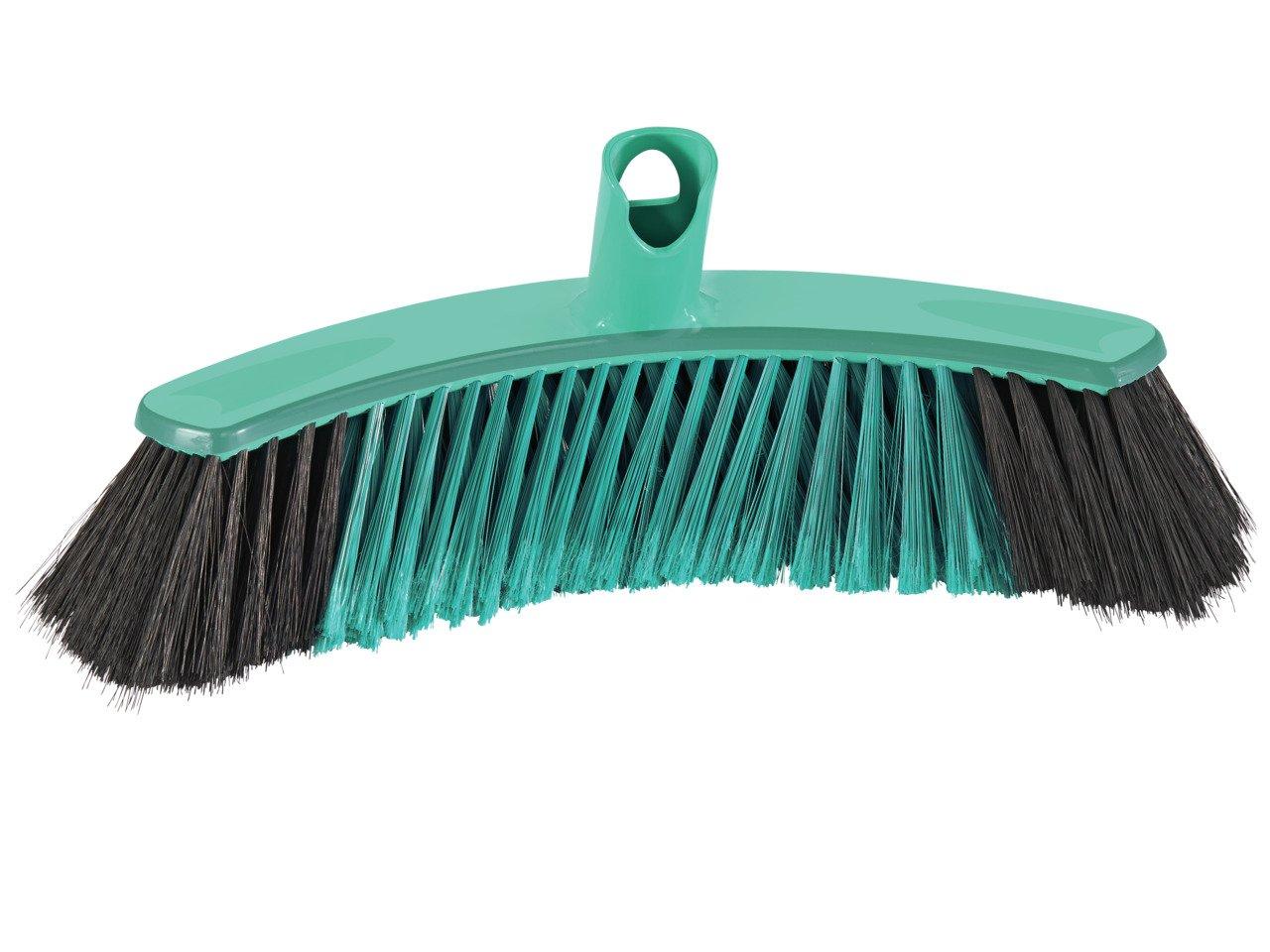 Leifheit Allround Broom Xtra Clean Collect 30 cm, Natural Hair, House Brush, Dustpan Brush, Mint Green, 45030