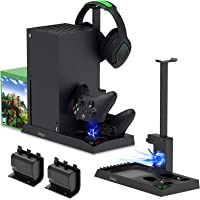 Charging Stand with Cooling Fan for Xbox Series X Console and Controller,Vertical Dual Charger Station Dock Accessories…