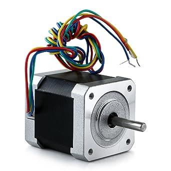 Nema 17 - Motor paso a paso híbrido de 48 mm, 2 fases, 12 V, 2,5 A ...