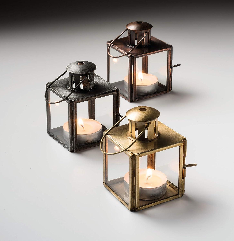 Puret/é du Lot de Mini lanternes en Verre Argent, Cuivre, Or