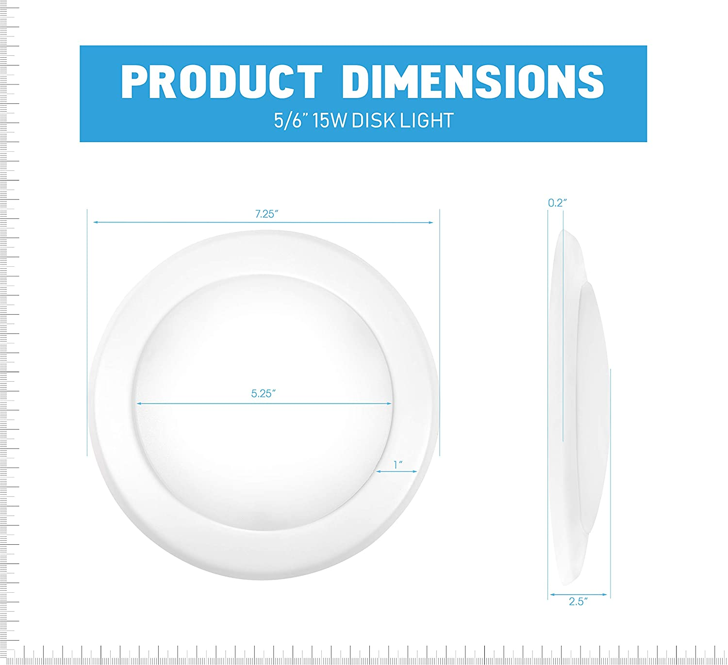 Parmida 12 Pack 5 6 Dimmable Led Disk Light Flush Mount Recessed Wiring Diagram Of Triac Dimming Downlight Connecting Over 1 Retrofit Ceiling Lights 15w 120w Replacement 3000k Soft White Energy Star