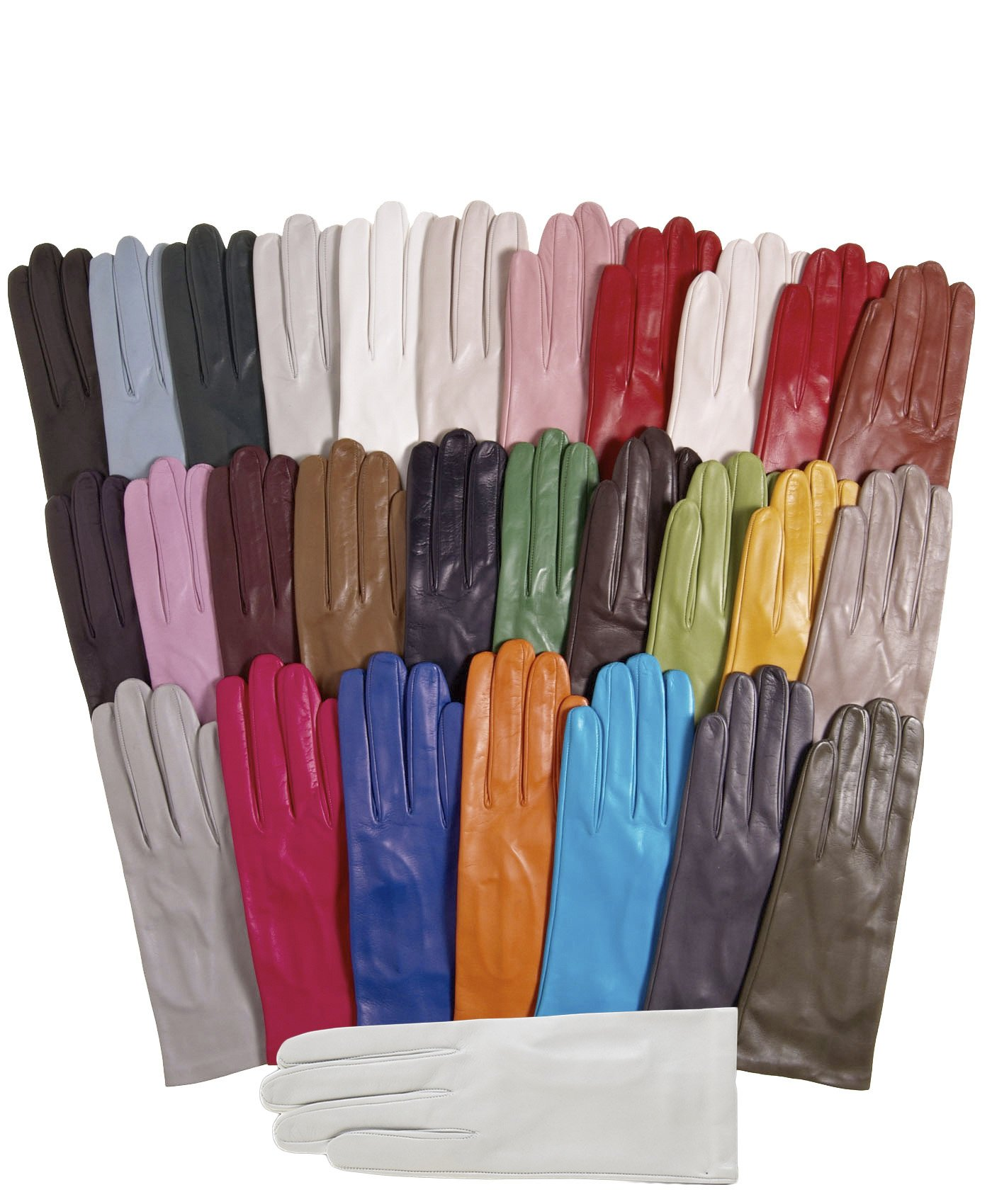 Fratelli Orsini Women's Italian Silk Lined Leather Gloves Size 7 Color Black