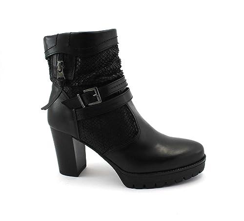 a2c9c979 NERO GIARDINI 7076 Negro Botines Mujer Botines de Cuero con Cremallera 40:  Amazon.es: Zapatos y complementos
