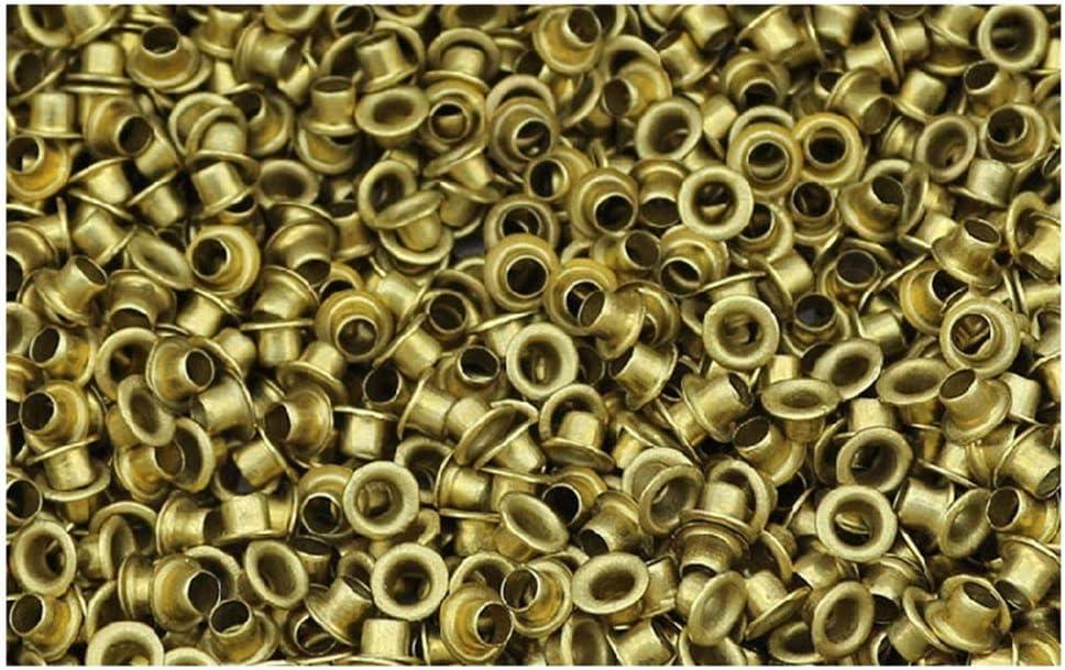 Ochoos 100//200pcs M6 Series Brass Eyelet Rivet Nut Copper Through Hole Rivets Hollow Grommet M66//8//10mm Stem Length: 6mm, Number of Pcs: 100Pcs
