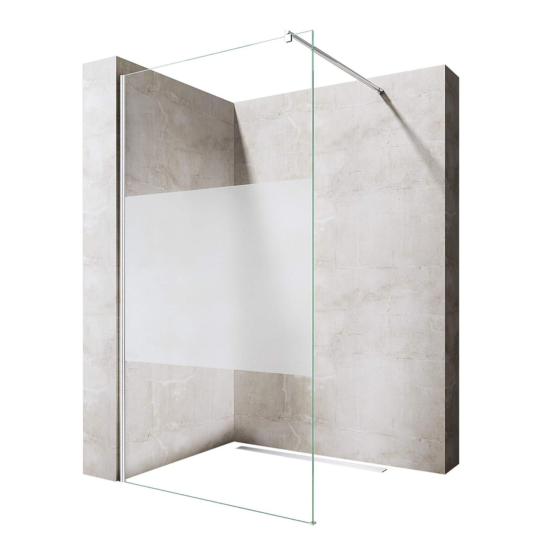 Paroi de douche pare-douche cabine de douche a l italienne verre de sécurité Bremen1MS 80 * 120 * 200
