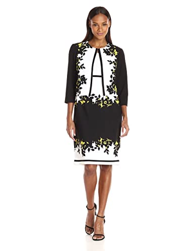 Danny & Nicole Women's Two Piece Floral Printed Structured Jacket Dress