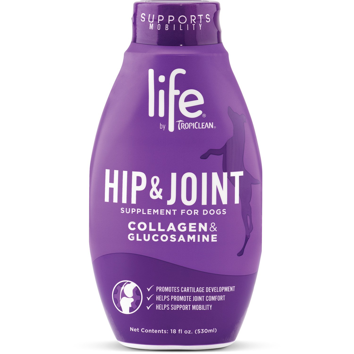 TropiClean Life Hip and Joint Supplement for Dogs, 18oz, Made in USA by TropiClean
