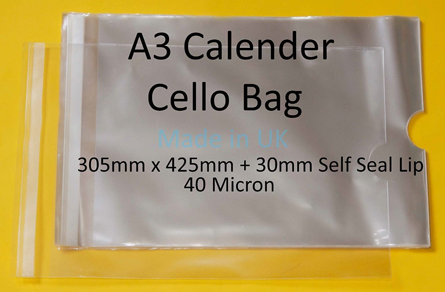 40 Micron Pack of 25-8 x 6 161mm x 203mm 30mm Self Seal Flap Mounted Photograph Cellophane Display Bags