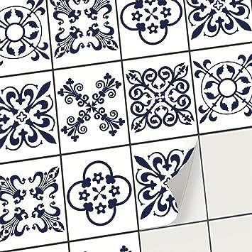 creatisto PVC Autocollant Carreau de Ciment I Mosaique Salle de Bain -  Stickers Carrelage adhésif Mural I Décalque de Mur de PVC I Stickers  carrelage ...