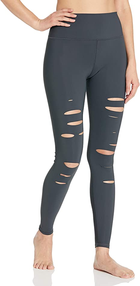 Alo Yoga Womens High Waisted Ripped Warrior Legging