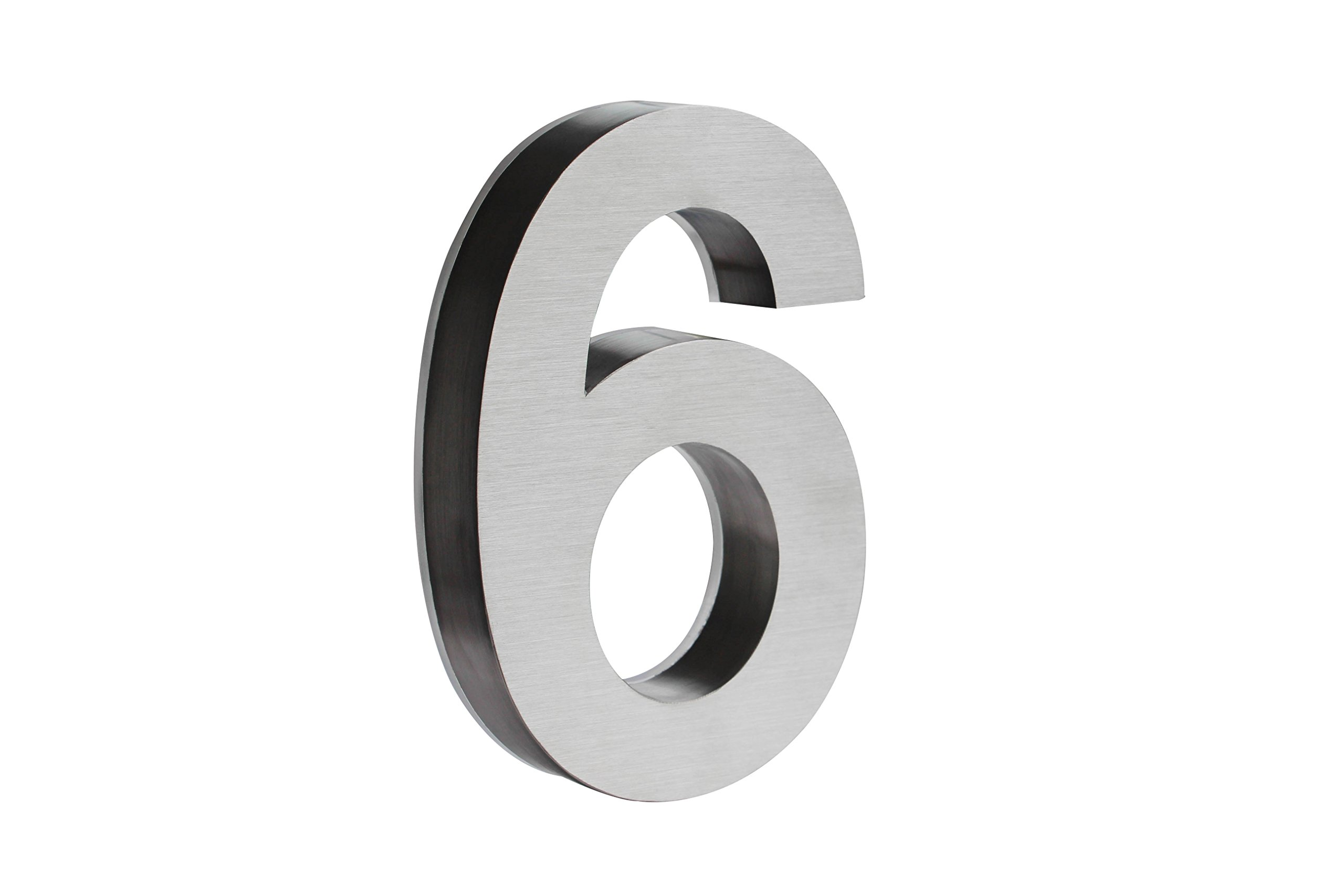 Backlit LED House Numbers (8 Inch WHITE) Big, Modern Address Signs for Homes | Soft, Exterior Glow | Brushed Stainless-Steel Finish | Weather Resistant, Durable, Wired | By JELSCO (6)