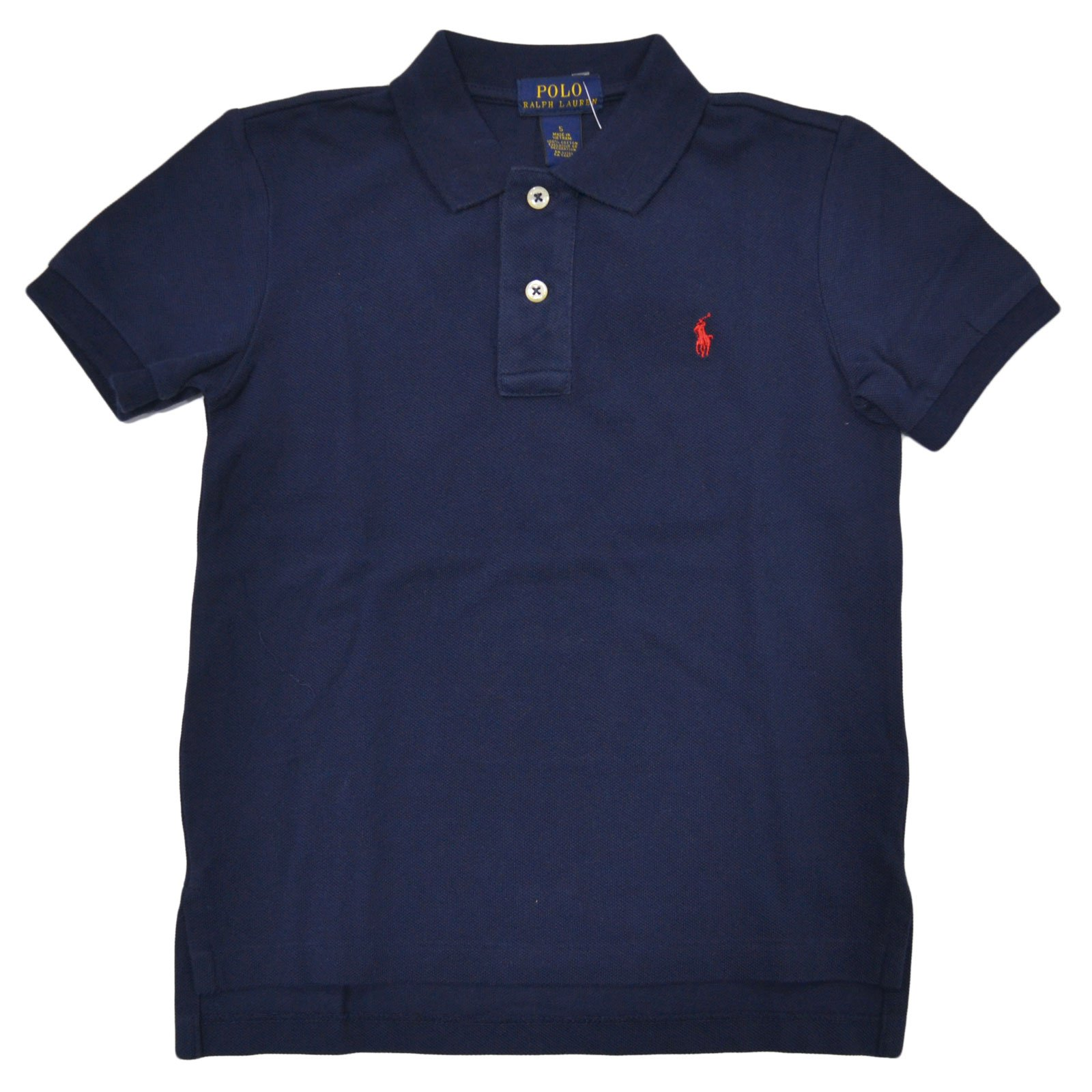 Polo Ralph Lauren Little Boys Mesh Polo Shirt (7, French Navy)