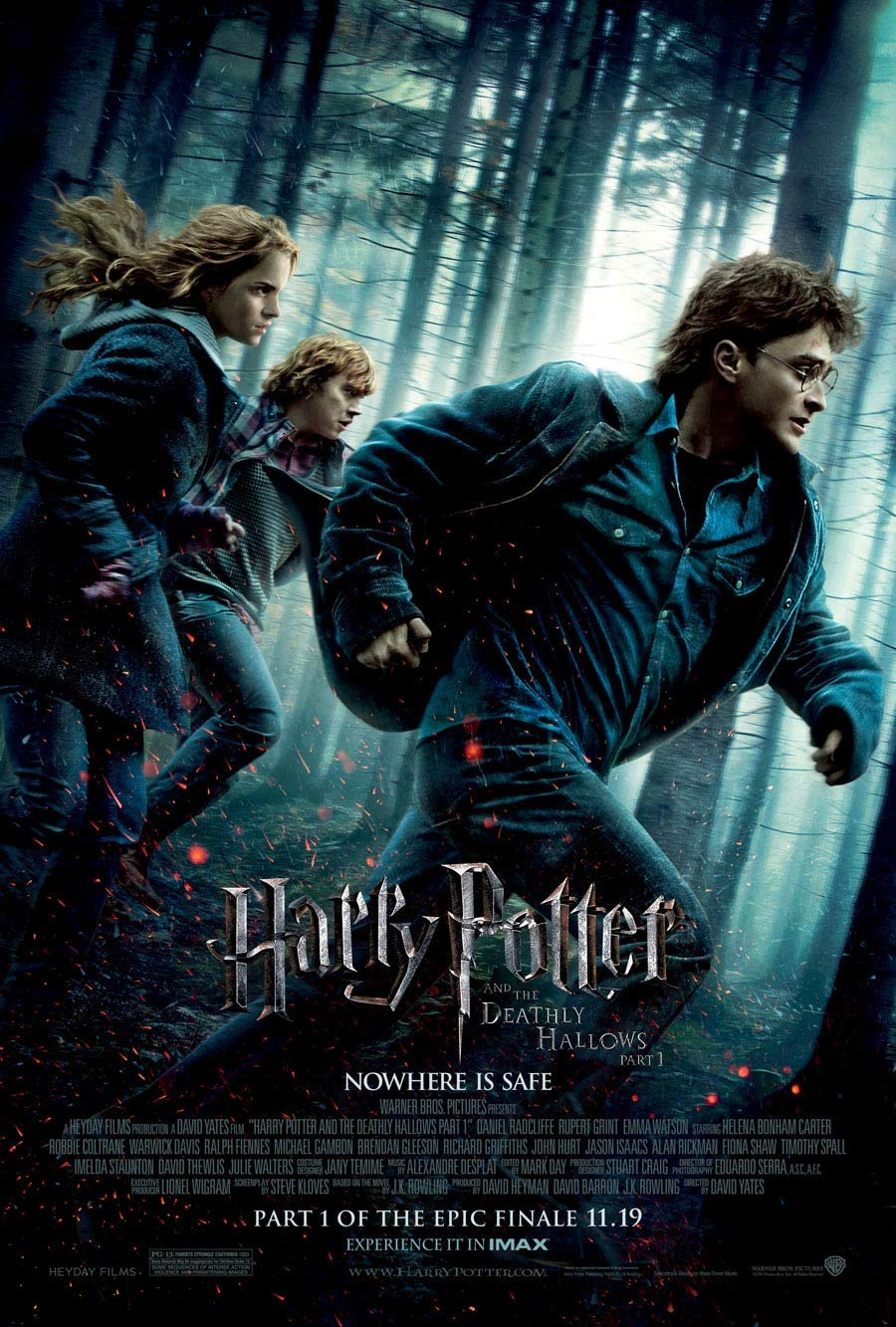 Amazon.com: Harry Potter and The Deathly Hallows Part I Movie Poster DS  Original Final 27x40: Prints: Posters & Prints
