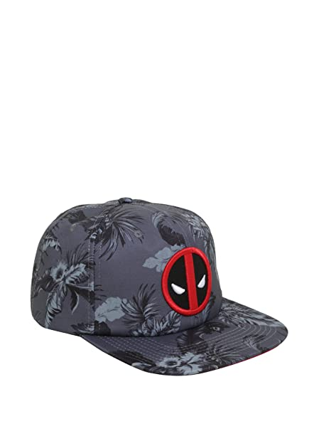 sneakers for cheap 59036 4e205 Image Unavailable. Image not available for. Color  Marvel Deadpool Floral  Print Snapback Hat