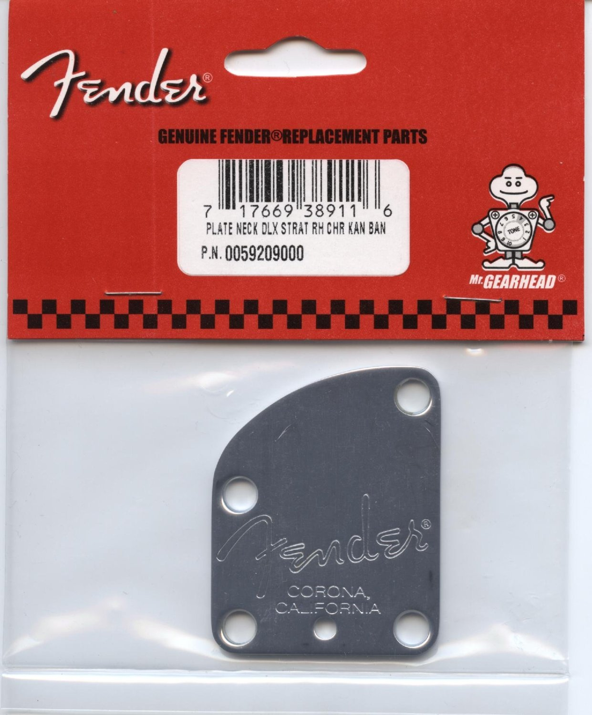 Fender American Deluxe Guitar 4-Bolt Neck Plate - Chrome