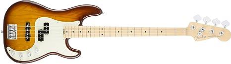 Fender 0196902752 American Elite Precision Bass de fresno arce diapasón guitarra eléctrica – Tobacco Burst
