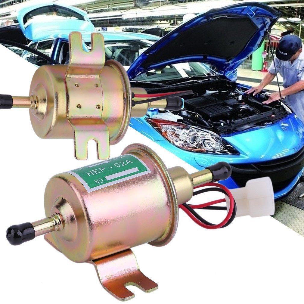 Binghotfire Universal Automotive Modified HEP-02A 12 V Heavy Duty Elektrische Baumaschine Kraftstoffpumpe Benzin Ö l Pumpe Metall fü r Benzin & Diesel