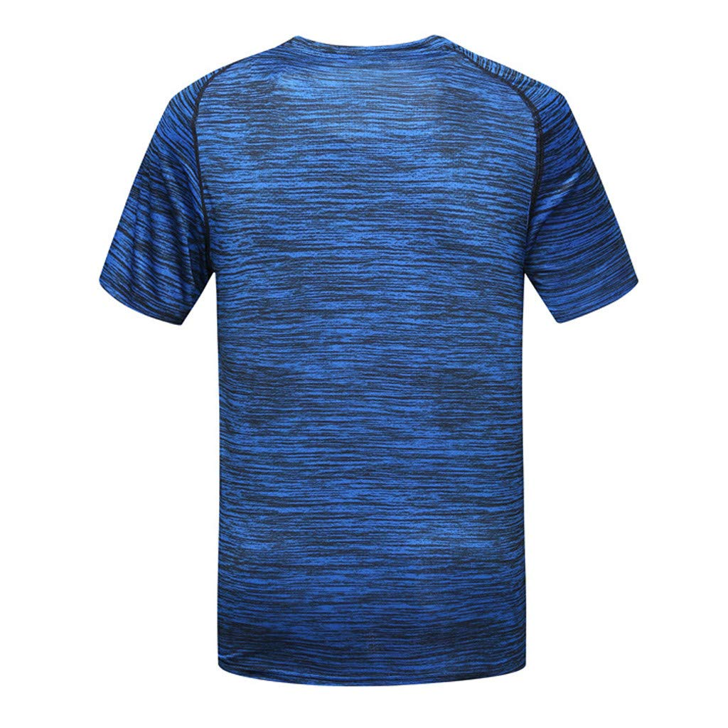 Hotkey Mens Tank Tops Beach Mens Summer Casual O-Neck T-Shirt Fitness Sport Fast-Dry Breathable Top Blouse