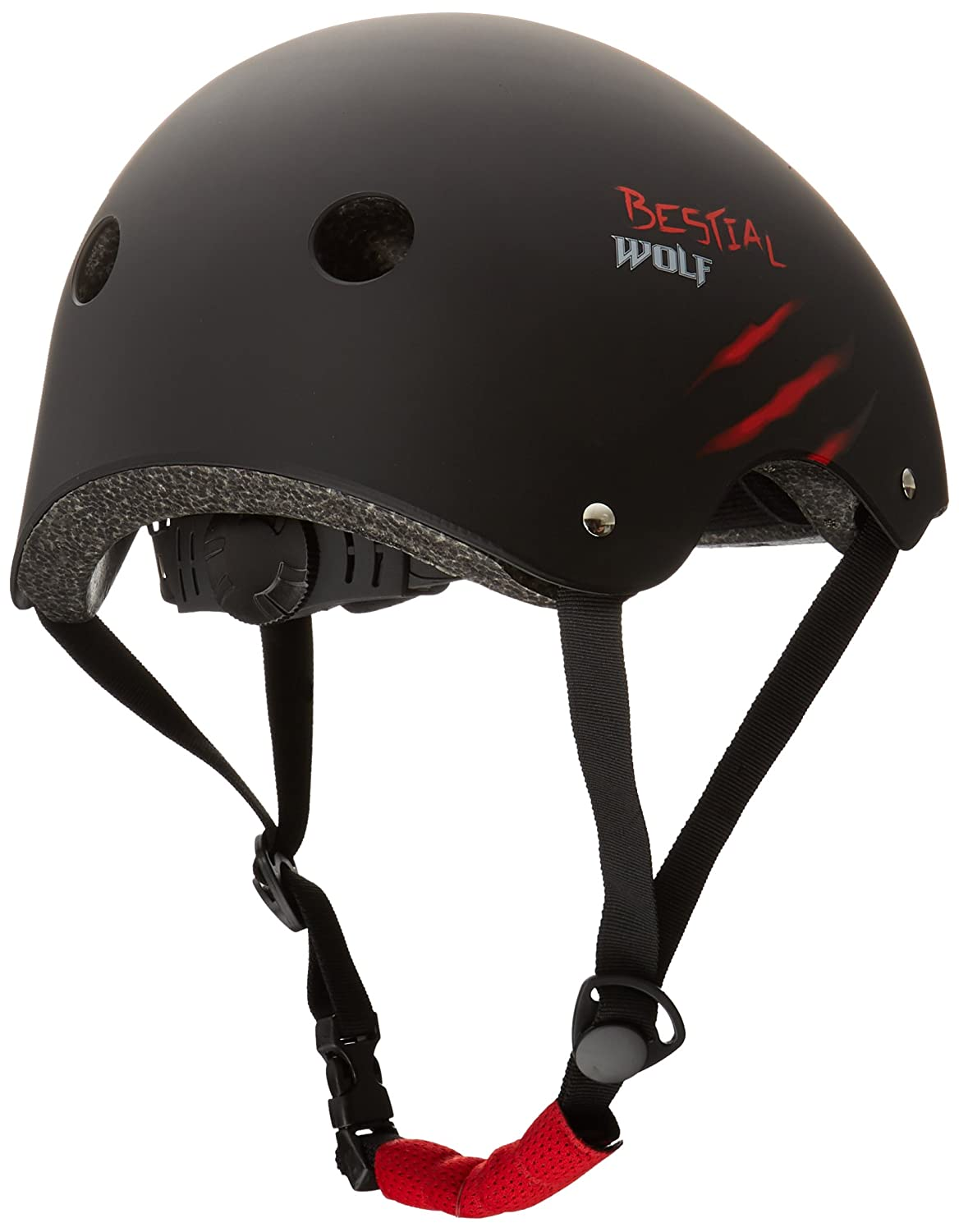 BESTIAL WOLF Skull, Casco Negro para Scooter Freestyle