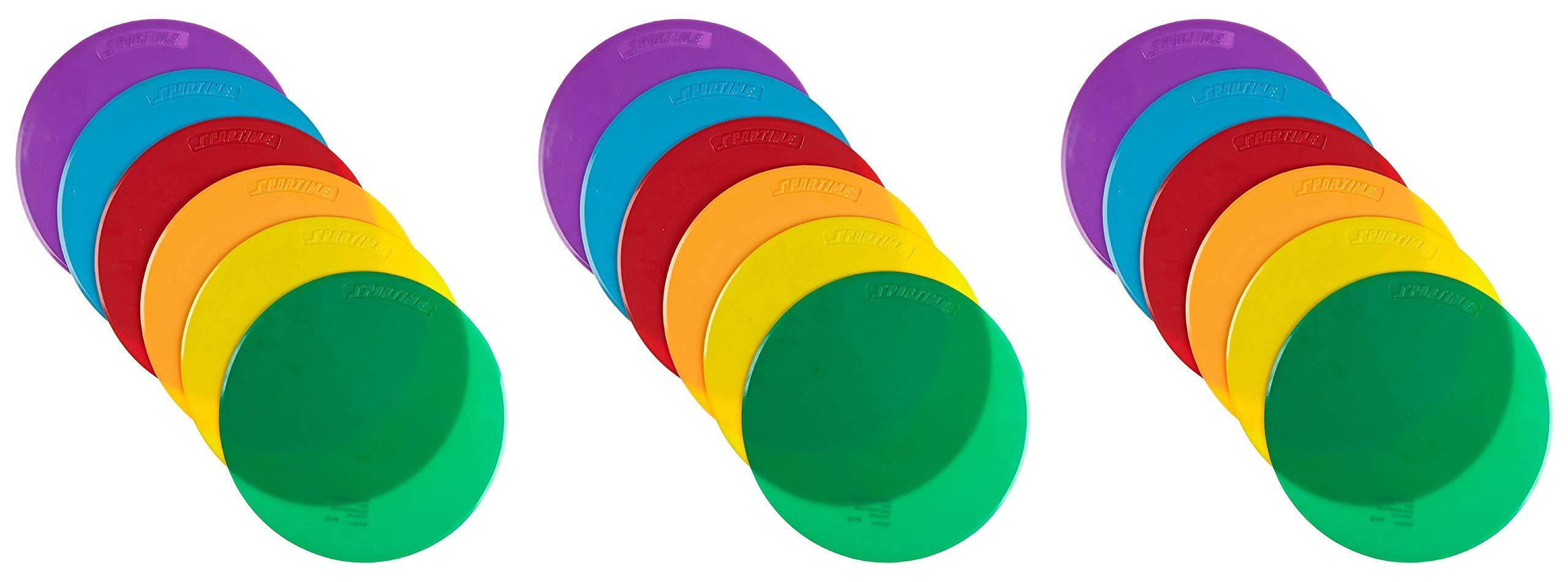 School Smart Spot Markers - 10 Diameter - Set of 6 - Assorted Colors (Тhrее Расk)