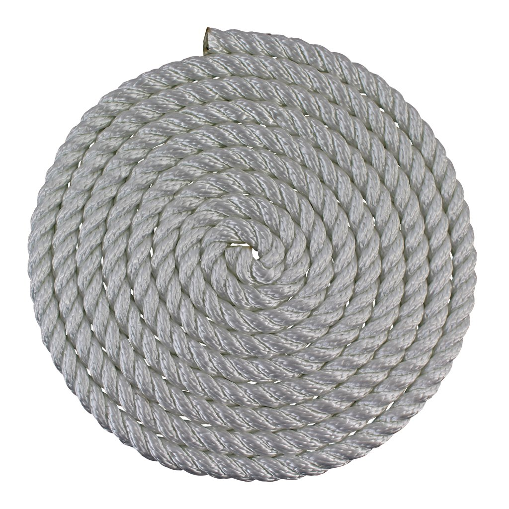 Twisted Nylon Rope (1/2 inch) - SGT KNOTS - Multipurpose Utility Line - Rot, Alkali, Chemical, & Weather Resistant - Crafts, DIY Projects, Towing, Dock Lines, & Heavy Load Uses (600 ft spool - White)