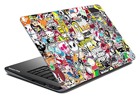 Paper Plane Design 006 Laptop Skin Cover With Hard Disk Skin