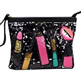 Felice Glitter Sequin Zipper Envelop Clutch Purses Evening Handbag Charming Shoulder Cross-Body Bag