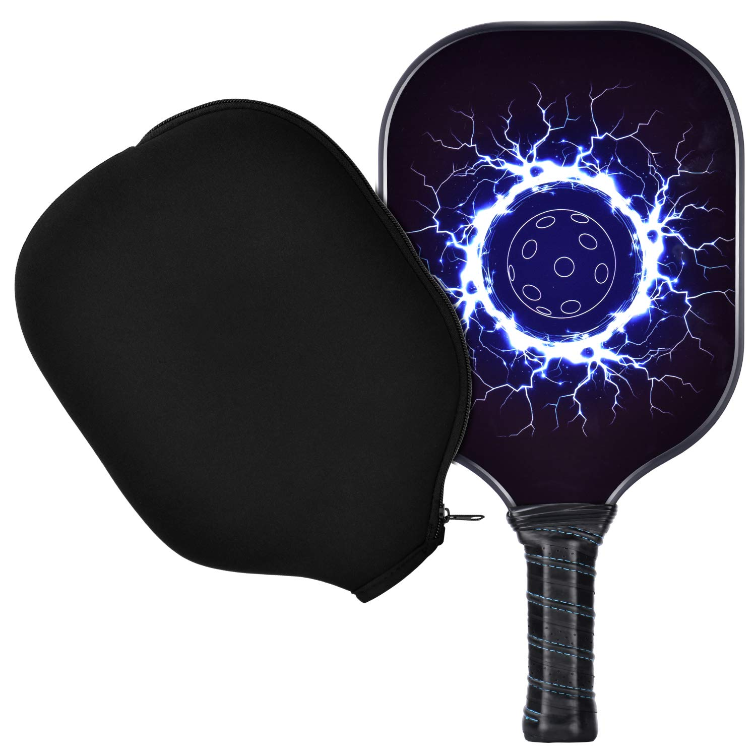 Pickleball Paddle Bundle Set Includes One Graphite Paddles +Classic Rackets Feature Graphite Face PP Honeycomb Core