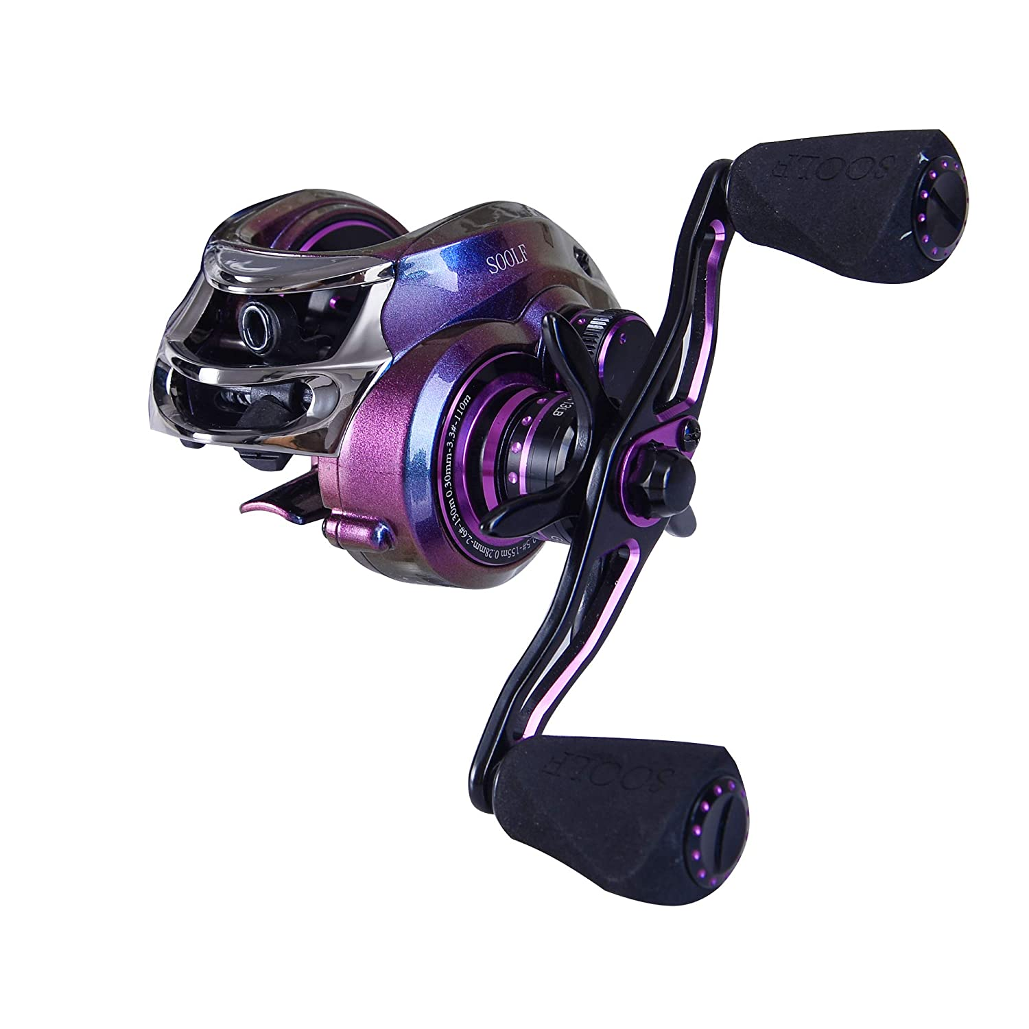 SOOLF Baitcasting Fishing Reel, 17.5LB Carbon Fiber Drag, 7.0 1 Gear Ratio, Magnetic Brake System, Right Left Handed