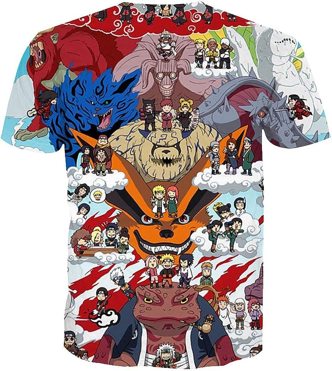 lunanana T-shirt Naruto Shippuden Kawaii Itachi Sasuke en polyester imprim/é 3D