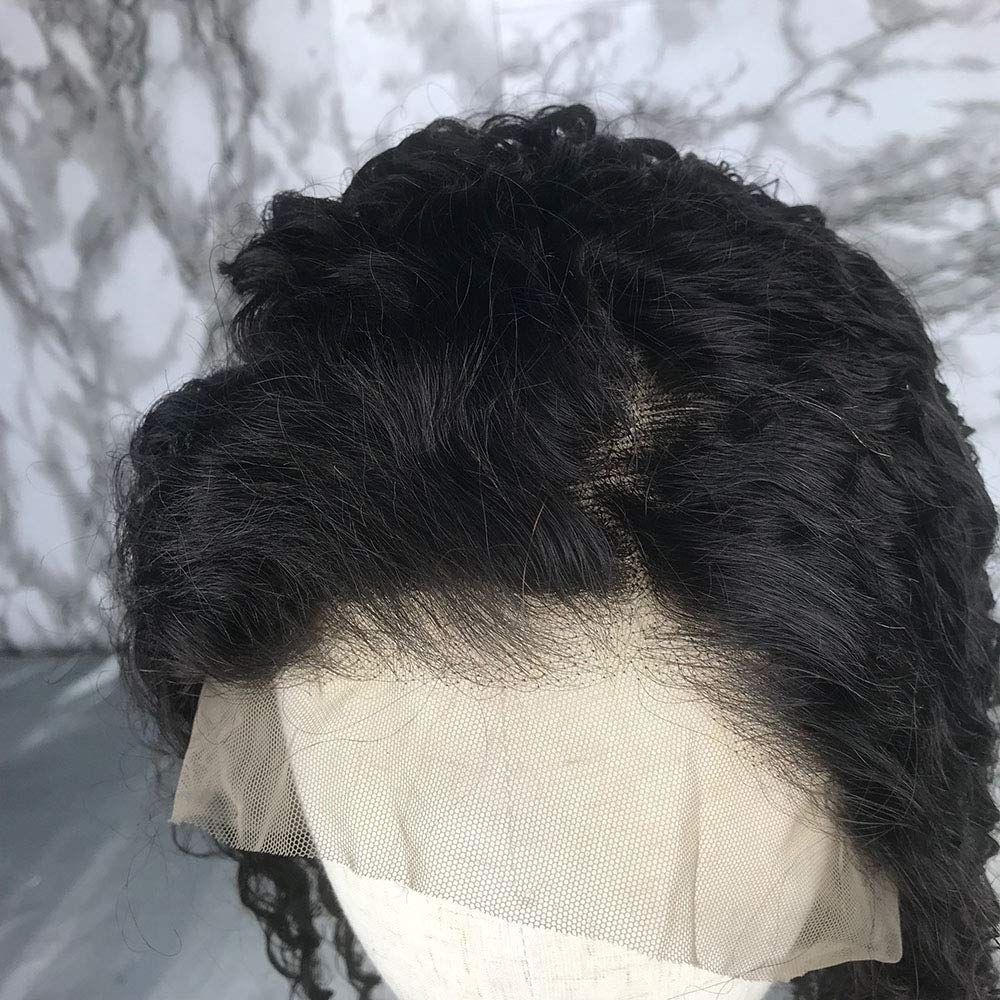 Short Bob Full Lace Human Hair Wigs With Baby Hair For Black Women Pre Plucked Hairline Brazilian Virgin Lace Front Human Hair Wigs 8''-16'' Loose Curly Hair Natural Color (Lace Front Wig 8) by Berimy (Image #8)