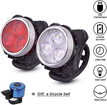 Luz Trasera para Bicicleta Potente LED con 4 Modos para Bici ...