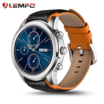 LEMFO LEM5 Reloj Inteligente Android 5.1 MTK6580 Quad Core 1GB ...