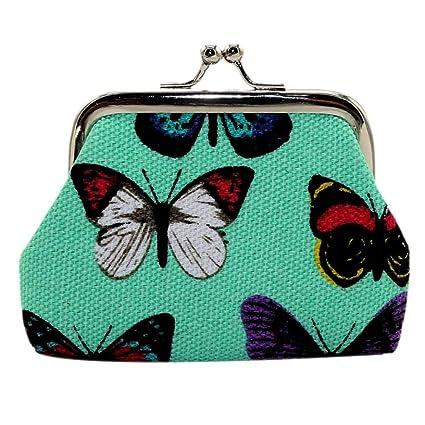 Amazon.com: simayixx Mujer Mariposa Pequeña portafolios ...