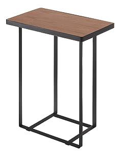 YAMAZAKI home Tower Side Table and Magazine Rack, Black