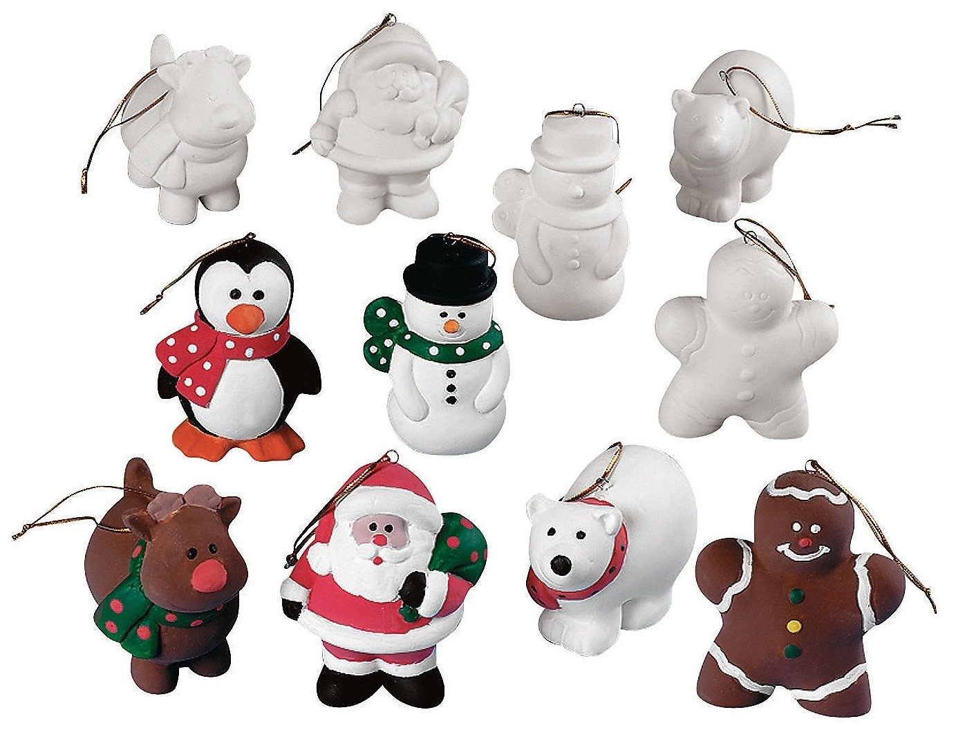Amazon.com : Design Your Own Ceramic Christmas Character Ornaments ...