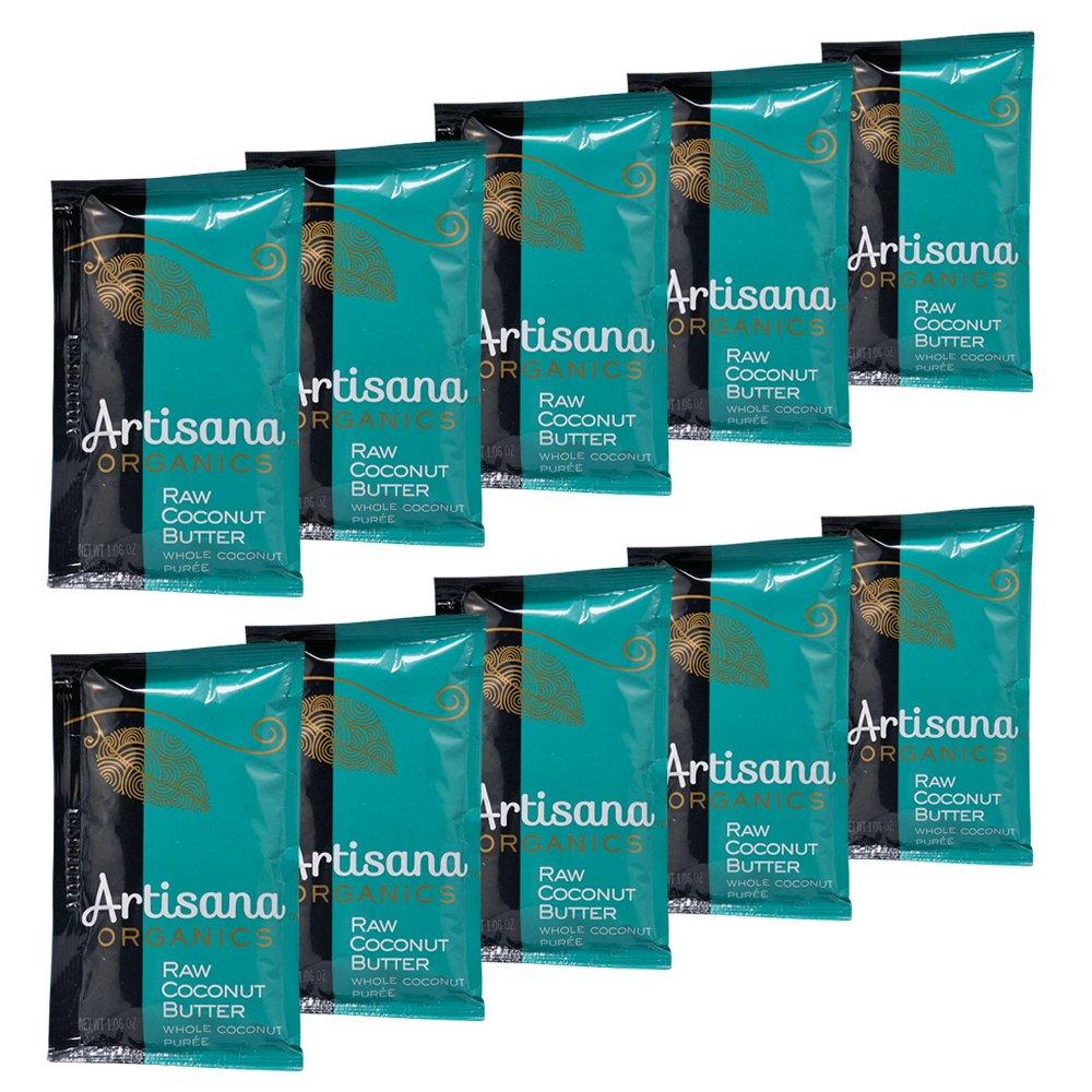Artisana Organics - Coconut Butter, USDA Organic, Non-GMO Single Ingredient Handmade Rich & Thick Spread (10-Pack, 1.06 oz)
